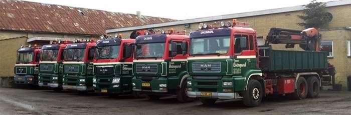 Lastbiler til containerkørsel i Sønderborg